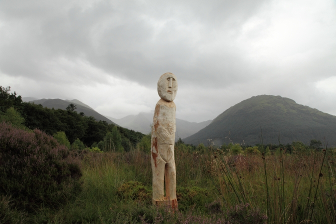 Carving the Ballachulish Figurine